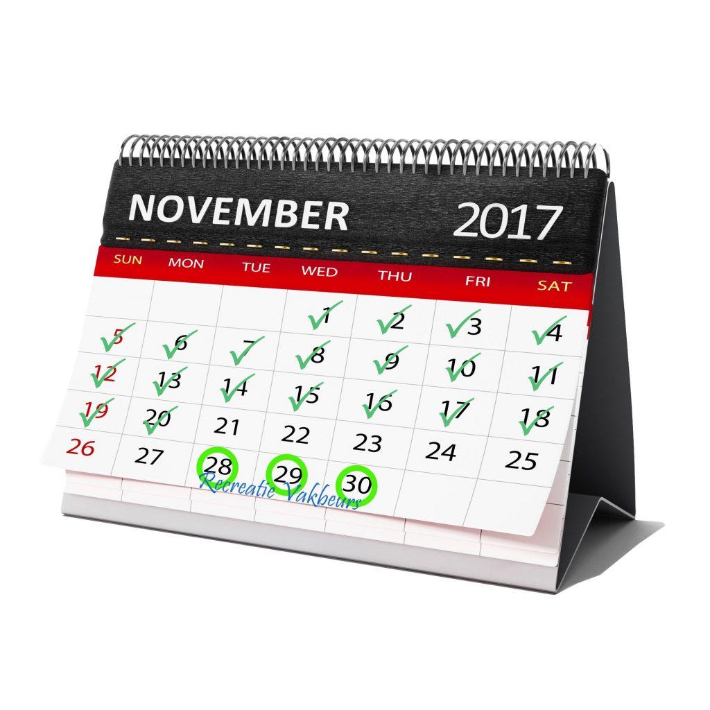 Kalender Recreatie Vakbeurs